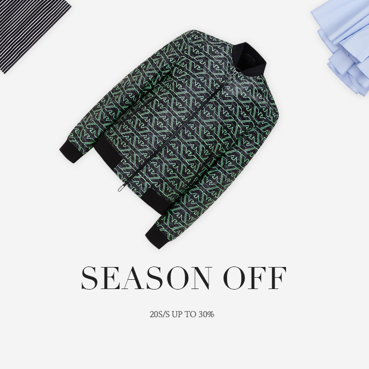 SEASON OFF 20S/S UP TO 30%