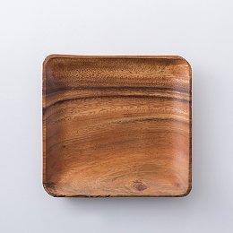자주 담는 아카시아 사각 접시_중 20cm