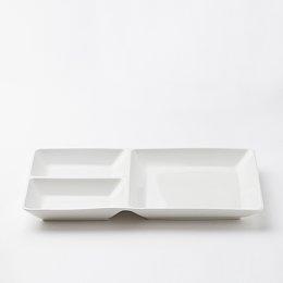 라온 세 칸 나눔 접시_27cm