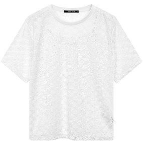 레이스 레이어드 반팔 티셔츠