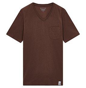브이넥 포켓 반팔 티셔츠