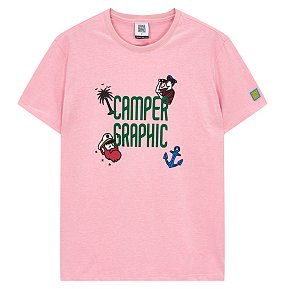 캠퍼그래픽 로고장식 티셔츠