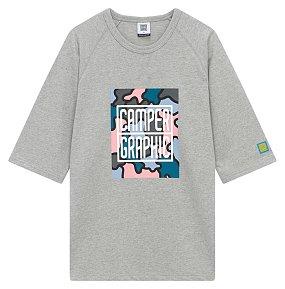 캠퍼그래픽 5부 카모플라쥬  티셔츠