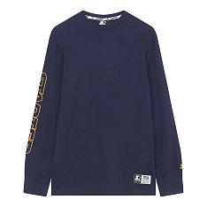 로고 롱 라운드 티셔츠