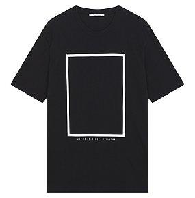스퀘어 그래픽 티셔츠