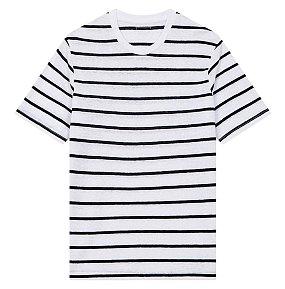 린넨 스트라이프 티셔츠
