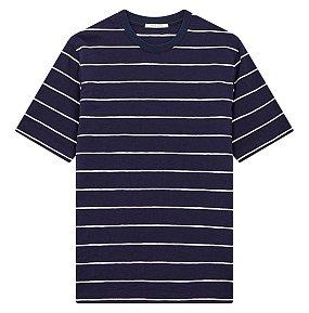 핀 스트라이프 티셔츠