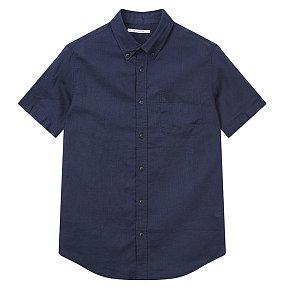 코튼린넨 반팔 셔츠