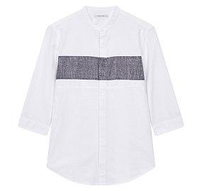 헨리넥 블럭 7부 셔츠