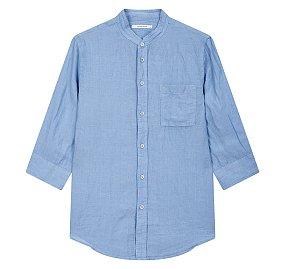프리미엄 린넨 7부 헨리넥 셔츠