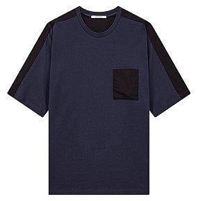 우븐 믹스 5부 포켓 티셔츠