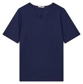 와이넥 5부 티셔츠