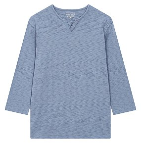슬럽 와이넥 7부 티셔츠