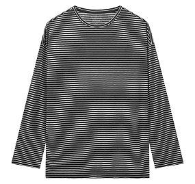 드롭숄더 스트라이프 티셔츠
