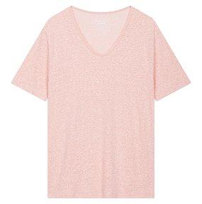 린넨 라운드넥 티셔츠