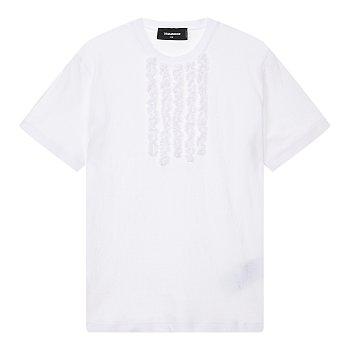 프릴 장식 반팔 티셔츠