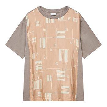 프론트 패턴 반팔 티셔츠