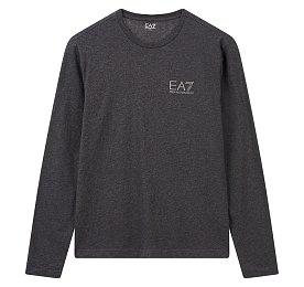 EA7 로고 롱 슬리브 티셔츠