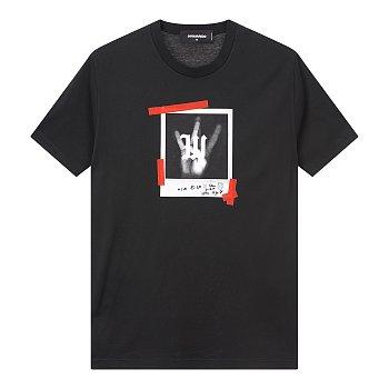 폴라로이드 그래픽 티셔츠 (LONG COOL FIT)