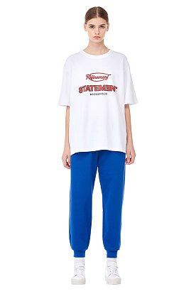 [ESSENTIAL] 레터링 그래픽 반팔 티셔츠