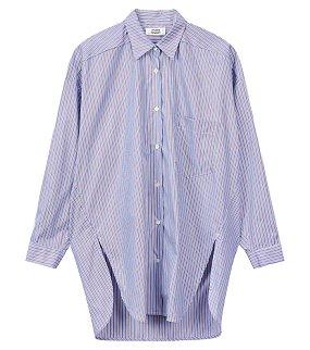 멀티 스트라이프 코튼 셔츠