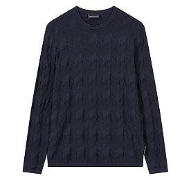 기하학 패턴 니트 티셔츠