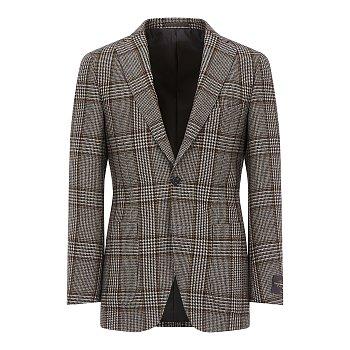 글렌체크 패턴 싱글 자켓