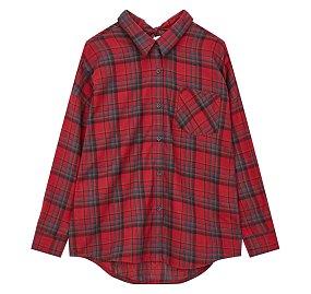 드랍숄더 플란넬 셔츠