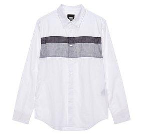 컬러블럭 셔츠