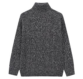 케이블 터틀넥 스웨터