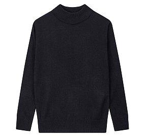 하프 터틀넥 스웨터