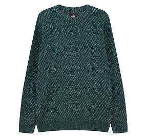 보카시 사선조직 크루넥 스웨터