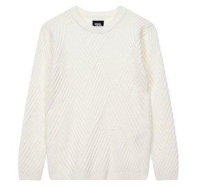 사선조직 크루넥 스웨터