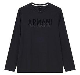 벨벳 아르마니 로고 티셔츠