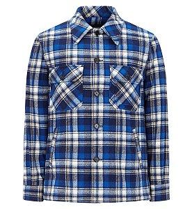 캐주얼 체크 셔츠 자켓