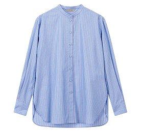 [ATELIER] 스탠드 카라 스트라이프 셔츠