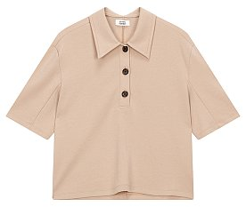 카라 디테일 티셔츠
