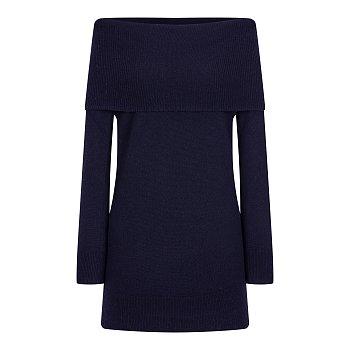 오픈 숄더 니트 드레스