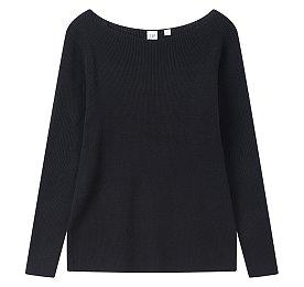 ★갭여성 18년 FALL★보트넥 립 풀오버 스웨터