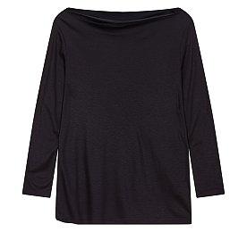 보트넥 레이온 티셔츠