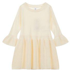 ★갭키즈 18년 FALL★ [토들러 여아 2-5세] 플라운스 스웨터 드레스