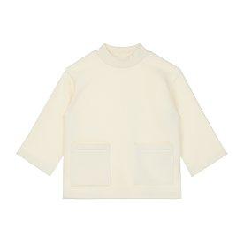 포켓 롱 티셔츠_크림