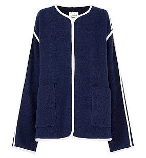 파이핑 라운드카라 자켓
