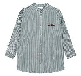 스트라이프 레터링 셔츠