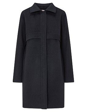 [ATELIER] 미니 플랩 히든 클로징 코트