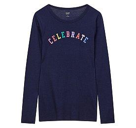 ★갭 여성 18년 HOLIDAY★ 코튼 컬러풀 레터링 티셔츠