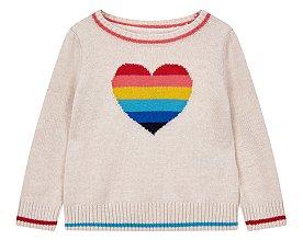 ★갭키즈 18년 HOLIDAY★ [베이비 여아 0-24개월] 멀티 컬러 하트 스웨터