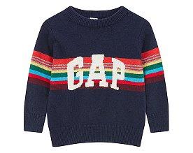 ★갭키즈 18년 HOLIDAY★ [베이비 남아 0-24개월] 크레이지 스트라이프 로고 스웨터