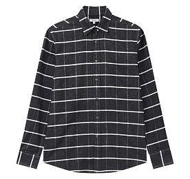체크 패턴 코튼 셔츠