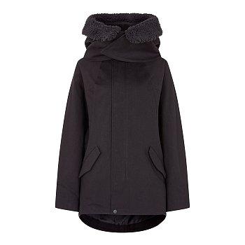 [REGULATION]퍼 포인트 후드 코튼 자켓